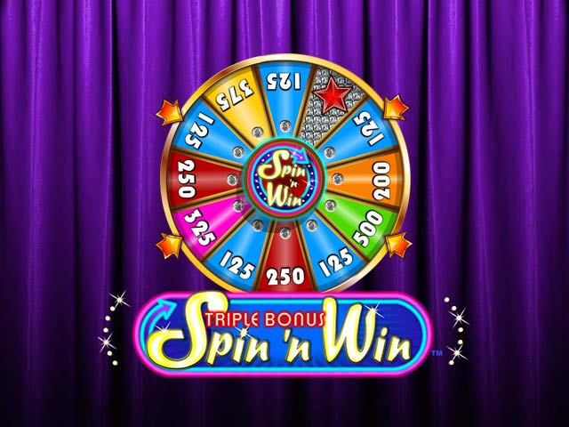 Slot machine Triple Bonus Spin 'N Win