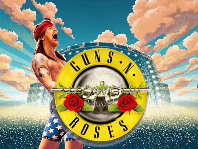 Slot machine with a musical theme Guns N' Roses