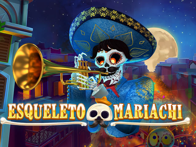Slot machine with a musical theme Esqueleto Mariachi