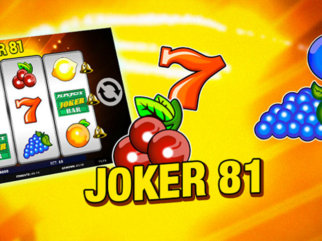 Retro slot machine Joker 81
