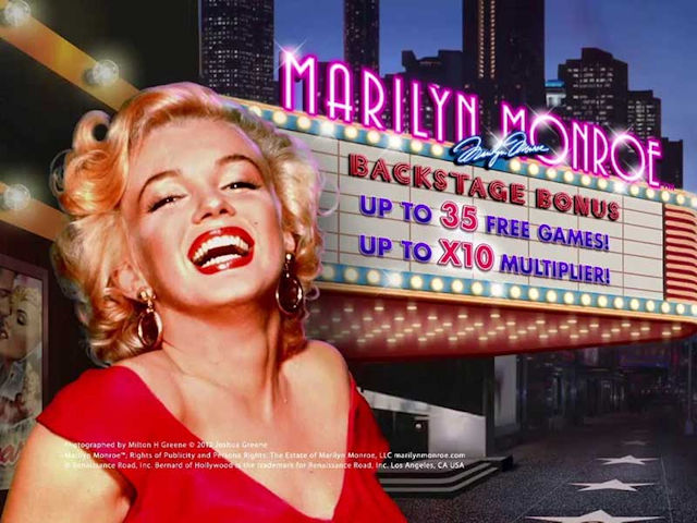 Licensed movie video slot Marilyn Monroe